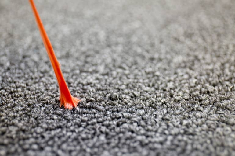 tricks to removing gum from carpet